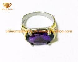 Ring SCR3008 van de Vinger van de juwelen van het Lichaam van het Roestvrij staal van de Stenen van de Juwelen van de manier de Ovale Purpere Gietende