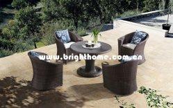 Commerce de gros Accueil ensemble à dîner Gadren Tissage en osier en aluminium mobilier extérieur