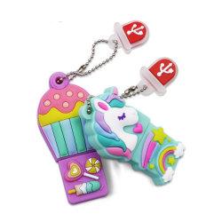 Bastone animale del USB di Pendrive del cavallo del carattere di film dell'azionamento dell'istantaneo del USB del fumetto dei capretti di immaginazione per il regalo di promozione del banco