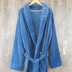 贅沢な高品質のショールカラー多色刷りの珊瑚の羊毛の浴衣