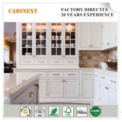 Governi di legno della mobilia della cucina di stile dell'agitatore grigio bianco moderno del caffè espresso