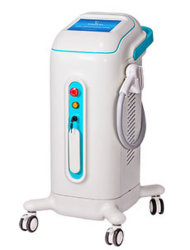 Cuidado com a pele para remoção de pêlos a laser de diodo