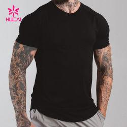 Kundenspezifische Ineinander greifen-Rückseiten-athletisches Shirt-Mann-Sport-Kleid