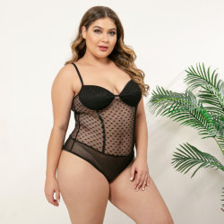 2019 Women's Sexy dentelle Transparent Body MP10314 plus taille 1XL 2XL 3XL 4XL