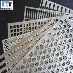 장식 스크린의 구멍 뚫린 금속 시트 / 필터 / 천장 알루미늄 / 스테인리스 스틸 / 갤바니화