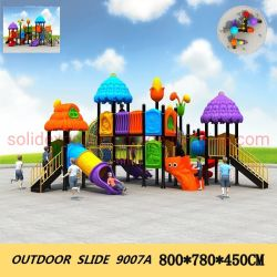 子供の屋外の演劇の構造の屋外の運動場のスライド