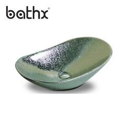 Dissipador de cerâmica feitos à mão artístico design moderno da Bacia Hidrográfica Produto Verde