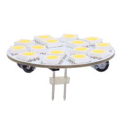 15 Индикатор G4 лампа для поверхностного монтажа системной платы за круглым столом 5050 широкий напряжение переменного или постоянного тока10-30V обратно контактный белый коммерческой инженерии для использования внутри помещений