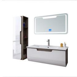 Heißer Verkauf von Badezimmer Ausrüstungen mit LED-Spiegel und Seitenschrank