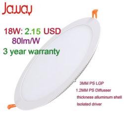 vertiefte 3With6With9With18With24W nehmen LED-Deckenverkleidung beleuchten unten ab