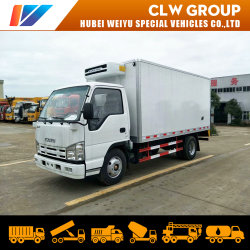 Motor diesel Isuzu camión frigorífico congelador cuerpo Contenedor de la caja de carga para el transporte de alimentos