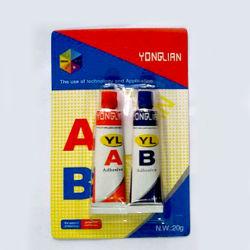 4 Minates Ab Resina Acrílica Cola de polímero de aço revestido a epóxi super cola adesiva