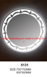 LED redondo espejo del baño cristal inteligente con reloj y temperatura o Bluetooth