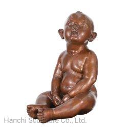 Бронзовая статуя малыша, Литые бронзовые скульптуры искусства, управление и высокая - класс декоративные ремесла
