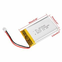La mejora de 1100mAh de polímero de litio recargable de 3,7V 803048 Batería Baterías de Li-Po