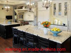 مطبخ ذو طلاء أصفر طبيعي مصقول/ذهبي من الجرانيت والرخام