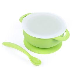 Grau de FDA Marcação crianças bebé dobrável de Silicone utensílios de louça de sucção Taça coloridos