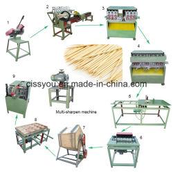 Um ponto dois palitos de madeira de bambu que máquina de linha de produção
