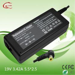 19V 3.42A 65W Laptop Wechselstrom-Spannungs-Adapter-Stromversorgungen-Ladegerät für Acer