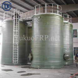 화학 공업을%s 주문을 받아서 만들어진 산성 저항하는 GRP 탱크