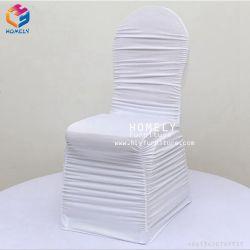 白く装飾的なスパンデックスのホテルの椅子カバー