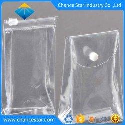 Fecho de correr de plástico transparente personalizados sacos sacos de embalagem de PVC transparente