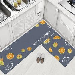 滑り止めオイル証拠防水PU PVC床のカーペット領域敷物の台所マット