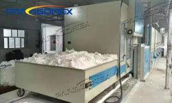 Fibras soltas morrer a máquina da máquina de algodão absorvente