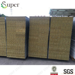 주문을 받아서 만들어진 Color 및 Thickness Insulated Rockwool Sandwich Panel Wall