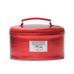 Or Rose brillant de luxe Sac cosmétique, double couche Boîte de maquillage, maquillage PU Cuir sac multifonction avec compartiment