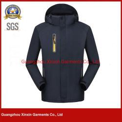 カスタムプリント従業員のスタッフのユニフォーム(J503)のためのビロードが付いている防水冬のジャケット