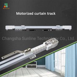 Tenda elettrica motorizzata in alluminio con guida a tendina in alluminio Sistema di binari a tendina con profilo