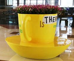 S231 de taza de café de fibra de vidrio sillas con maceta de la Copa de la sembradora Sahped silla espera público