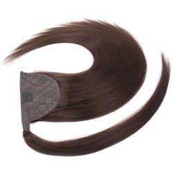 ダブルドロー 100% Remy Human Hair Ponytail Wrap Clip (レミーヒューマンヘアポニーテールラップクリップ)オン ホーステール