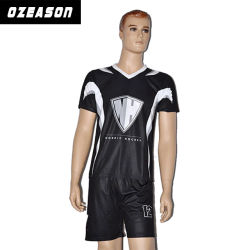 デザインSubliamtionのサッカーのフットボールのジャージー可逆通気性の自由なキット