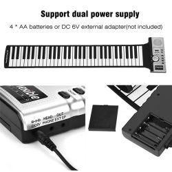 As teclas Aiersi 61 Arregaçar Piano MIDI Teclado programável eletrônicos flexíveis