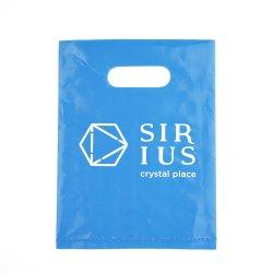 Kundenspezifische Form druckte Plastik gestempelschnittenen Griff-Beutel