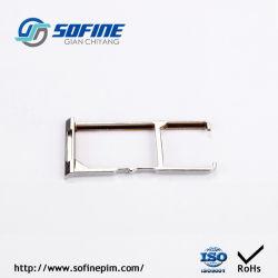Металлокерамические металлической части пассивации и PVD покрытием для телефона аксессуары SIM-карты двойной лоток для бумаги