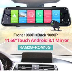 10-дюймовый 4G зеркало заднего вида с двумя камеры Adas WiFi навигации GPS