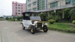 Automobili classiche elettriche bianche con intelligente a bordo del caricatore