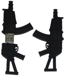 Горячий продаж ПВХ пулемет флэш-накопитель USB в форме