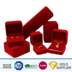 Commerce de gros de haute qualité parfum cosmétiques élégant Personnalisée Emballage Fashion bijoux de luxe en velours Earrings Bracelet Bague Collier boîte cadeau pour la vente