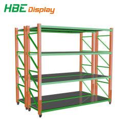 Light Duty entrepôt Rack de stockage d'étagères en métal avec roues roulettes