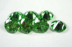 Kleur 1mm Kubieke van de Juwelen van Wuzhou Machinaal gesneden Groene Steen Zironia