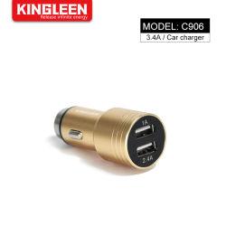 3.1A 알루미늄 합금 차 충전기 접합기 이동 전화를 청구하는 이중 USB 운반 빠른 차