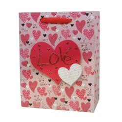 Romantischer roter Inner-Valentinstag-Muttertagespapierbeutel mit Griff