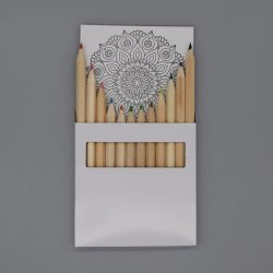 L'art le développement intellectuel de la peinture d'enfants de la Papeterie avec 12 pages du papier à dessin et de la moitié de la taille Customiazable 3.5''12 PCS crayon de couleur