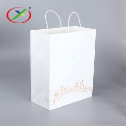Горячая продажа Sos коричневый крафт-Shopper магазинов с Логотип выполните рукой широкий нижней части портативного обычная бумага сумки