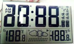 Relógio digital LCD OEM Módulo do visor com retroiluminação LED, PCB