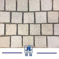 Split bruts naturels des pierres de granite finisseur pavées cubes sur Mesh pour l'extérieur Allée/passerelle Flooring